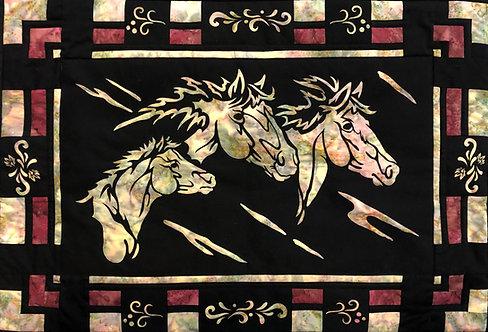 Wild Horses Quilt Pattern/Laser Set