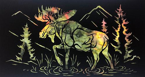 Moose Stroll Laser Cut