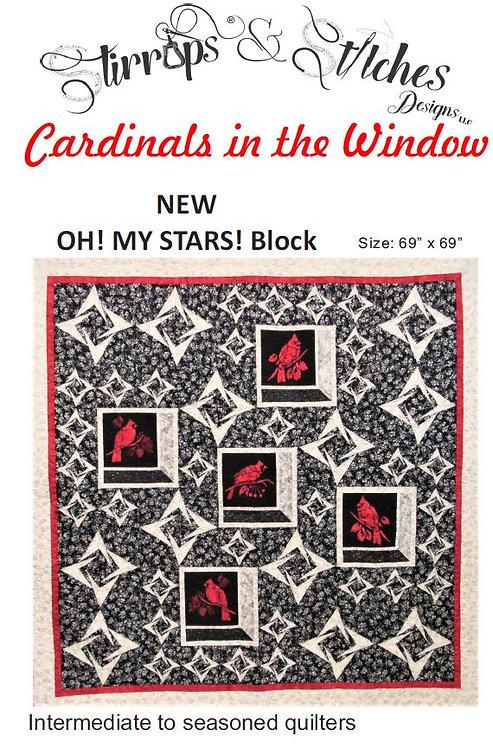 Cardinals in the Window Quilt Pattern/Laser Set