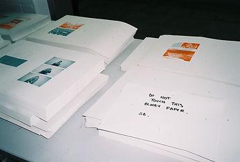 Shy Bairns risograph printing