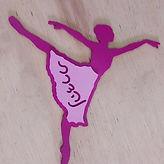 שלט לחדר ילדים בצורת רקדנית לילדה נהדרת