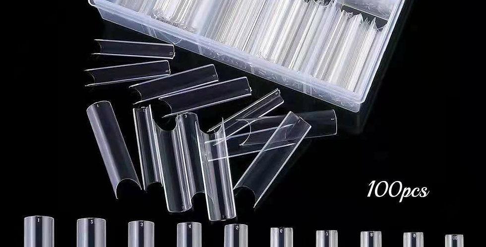 Straight long cut nails 100pcs