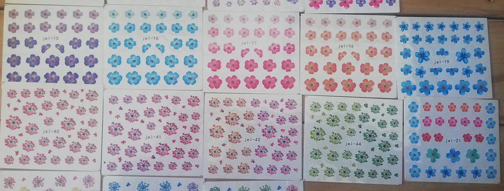 WATER DECALS FLOWERS
