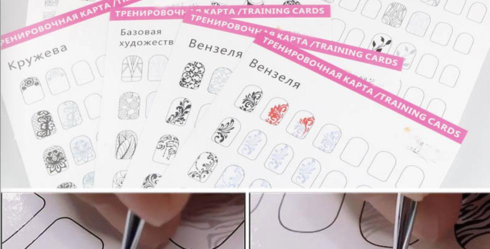 Practice drawing art sheets - 12pcs