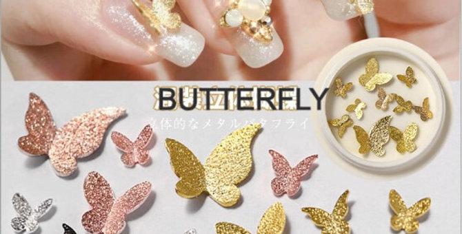 BUTTERFLY 3D  NAIL ART