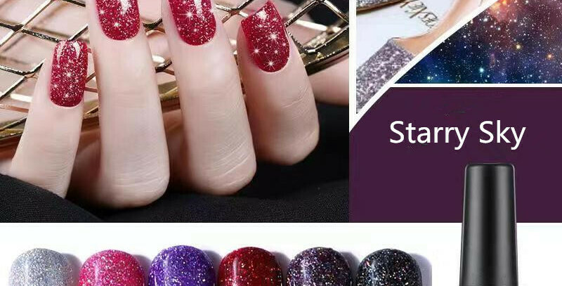 AS GEL POLISH STARRY SKY