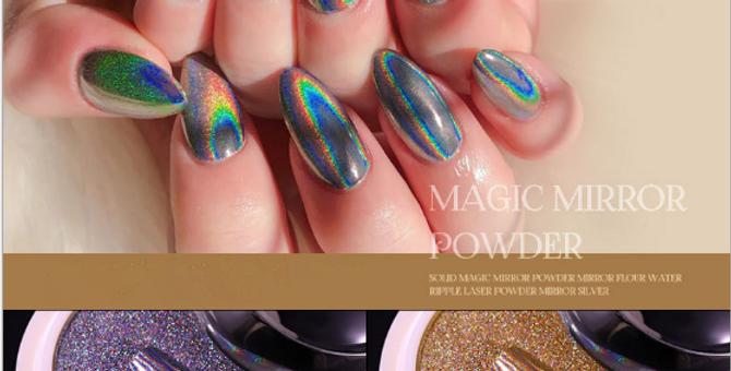 Magic Solid Holographic Mirror chrome powder