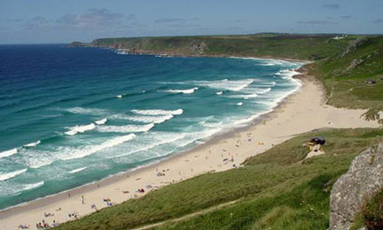 Whitesands Bay in Summer