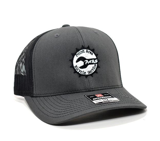 PABS Logo Trucker Hat Charcoal/Black