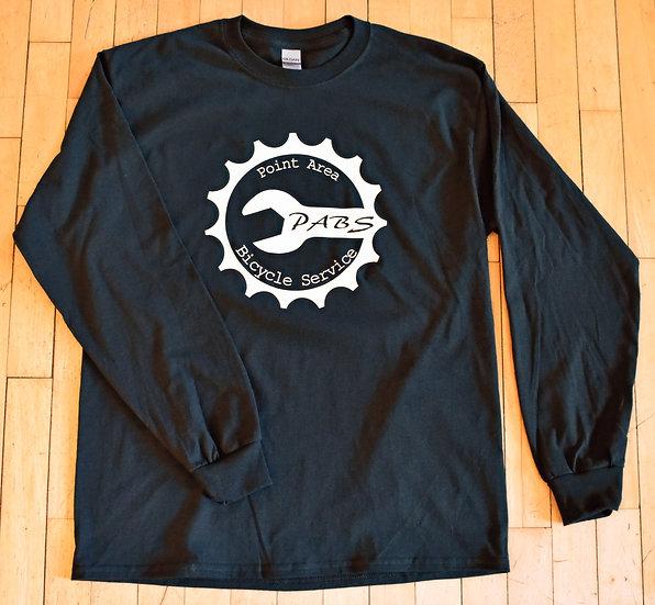 PABS Logo Wisco Long Sleeve Shirt Black