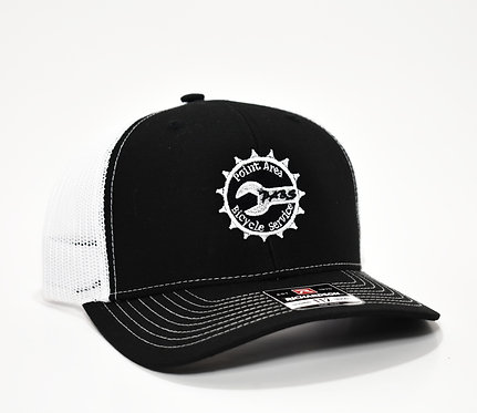 PABS Logo Trucker Hat Black/White