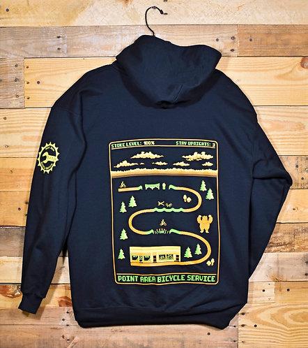 PABS 8bit Zip Hooded Sweatshirt Black
