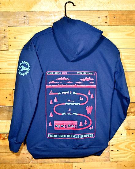 PABS 8bit Hooded Pullover Sweatshirt Navy