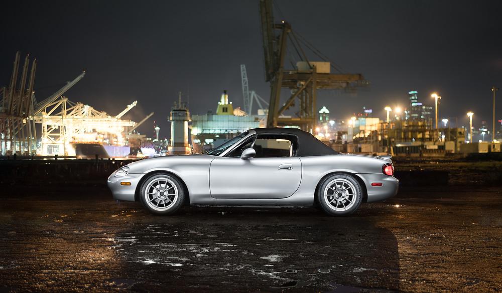 NB Miata photography light painting car photo night
