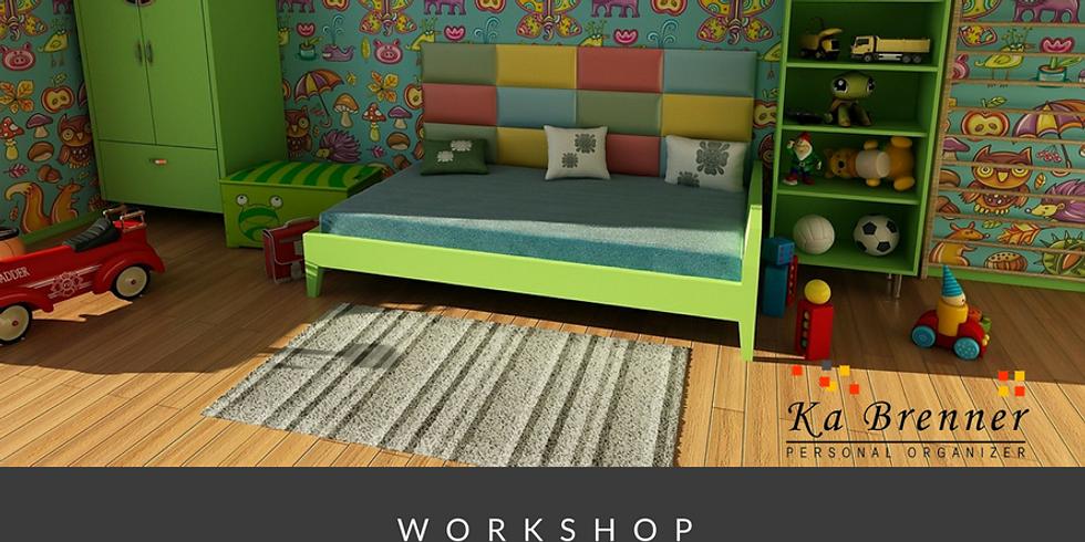 Workshop Organizando o Quarto das Crianças