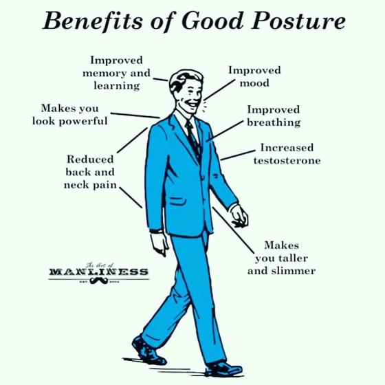 #mondaymantra: stand, sit, walk up properly
