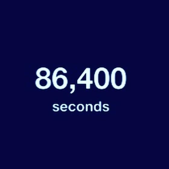 #ThoughtfulThursday: 86,400