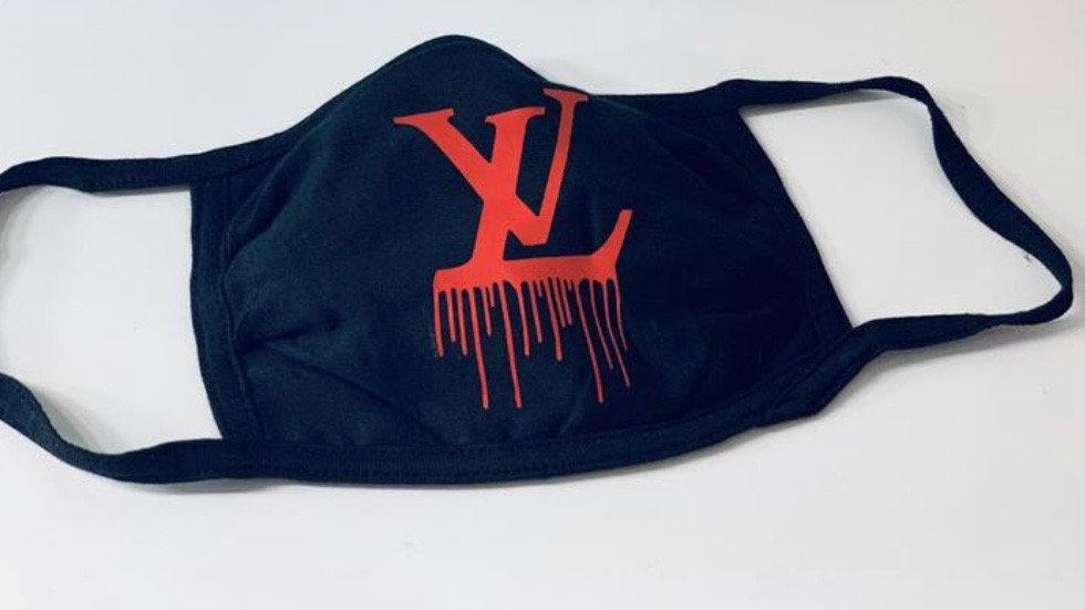 LV Inspired Custom Handmade Mask