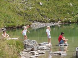 Trempette au Lac Bleu