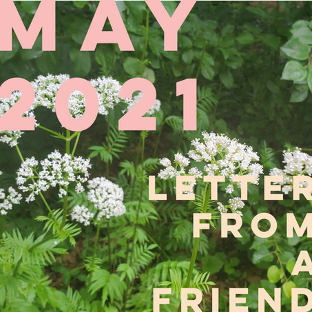 LETTER FROM A FRIEND : MAY 2021