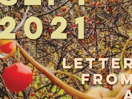 LETTER FROM A FRIEND : SEPT 2021