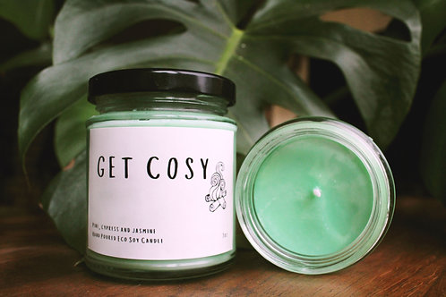 Get Cosy Candle - Pine, Cypress and Jasmine
