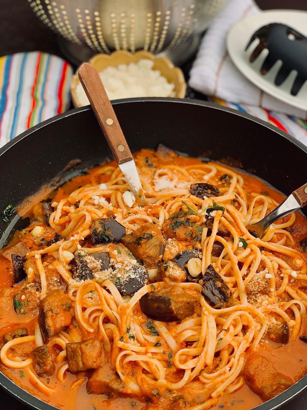 Pasta Alla Norma Recipe. A Delicious Eggplant Pasta Dish
