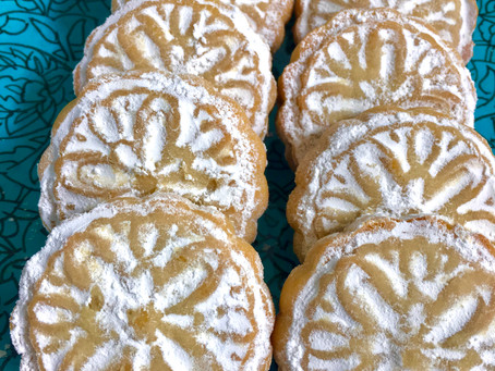 Maamoul, a Semolina (Walnut, Pistachio or Date) Filled Cookie