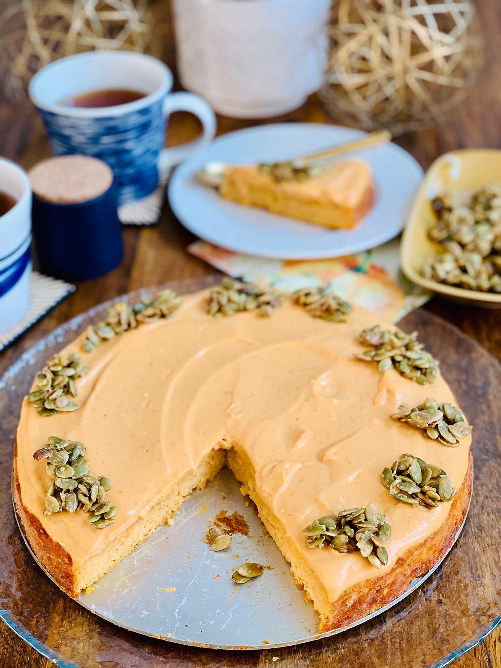 Flourless Pumpkin Spice Cake