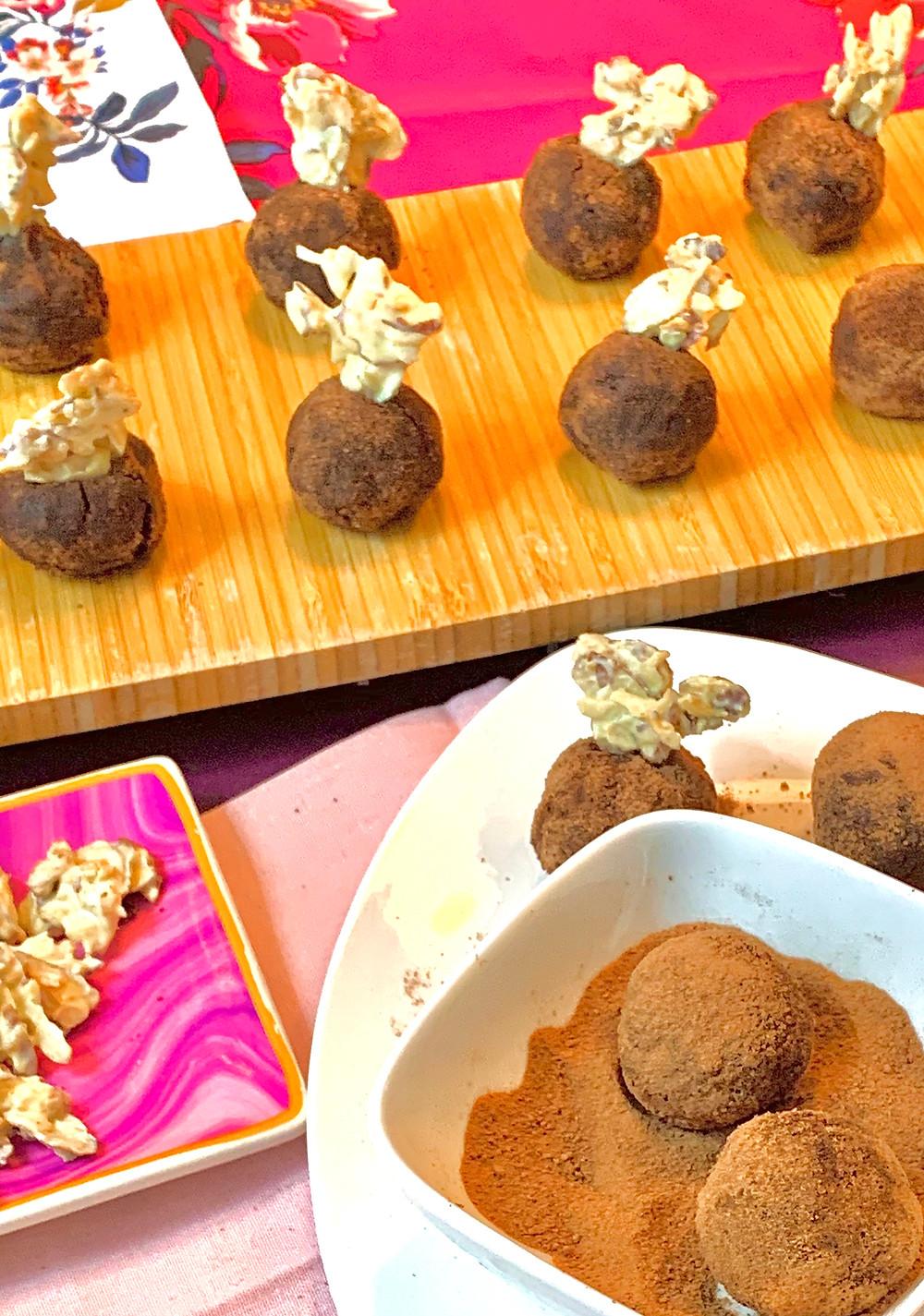 Gluten-Free Chocolate Tahini Truffles