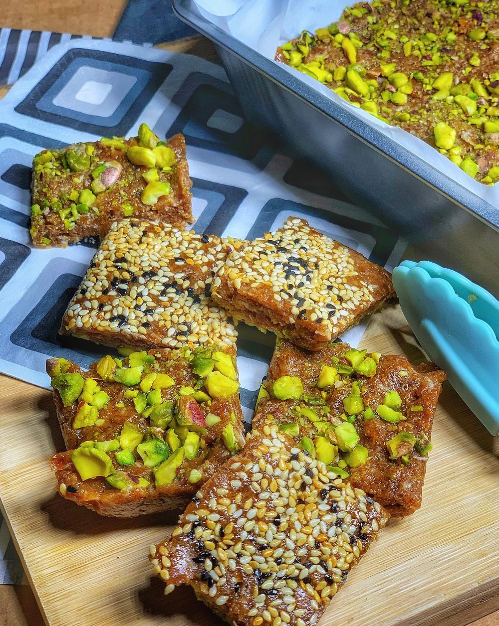 Date and Almond Butter Bar A Heathy Vegan Treat
