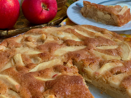 French Apple Cake. A No Fuss, Delicious and Easy, Apple Cake Recipe