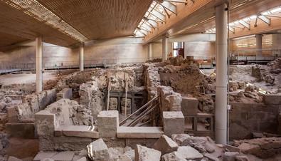 Ancient Akrotiri Ruins