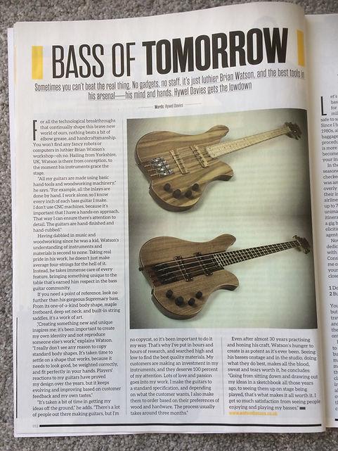 Bass guitar magazine - Bass of tomorrow