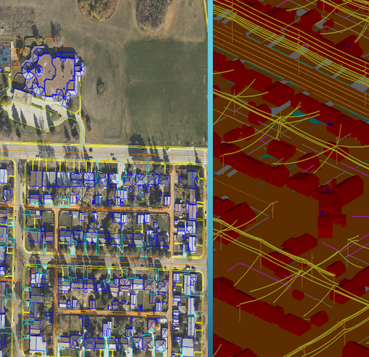 Planimetric mapping in 3D and LOD 200 de