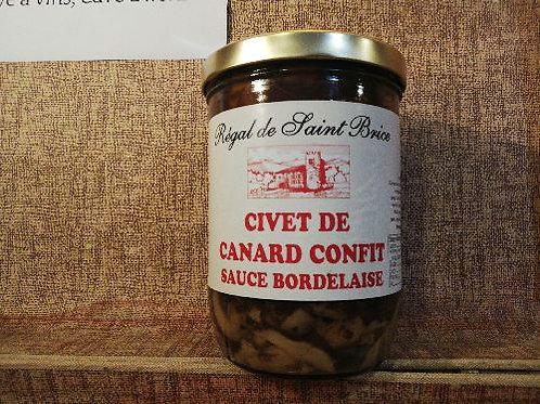 Civet de canard confit à la bordelaise - 750gr