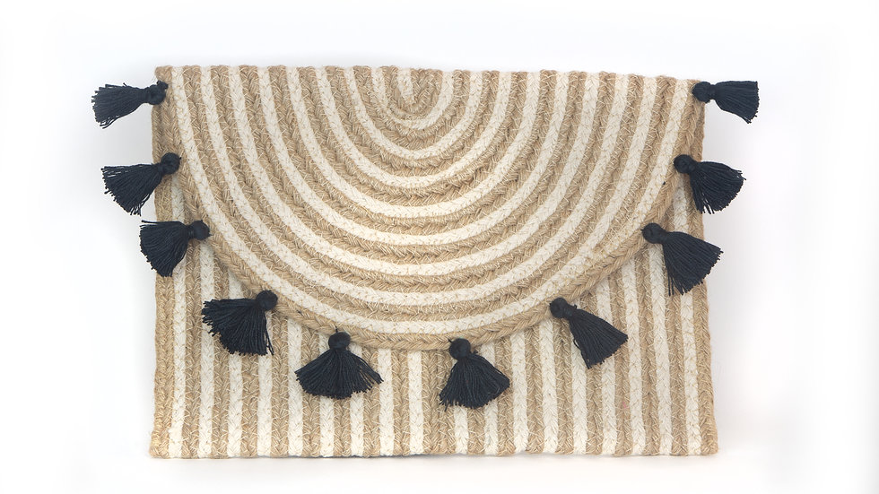 Black Tassel Clutch
