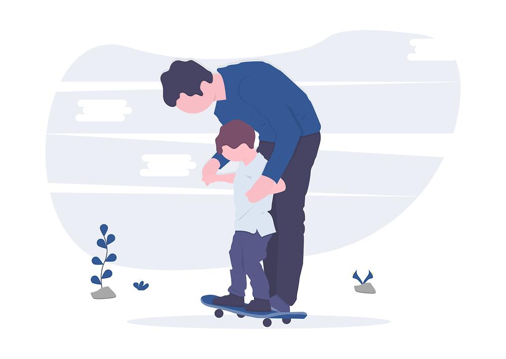 Cadre passant son temps libre avec son fils