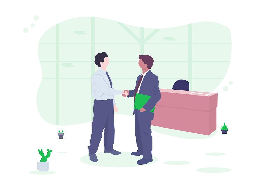 Un cadre travaille à temps partiel auprès d'un employeur