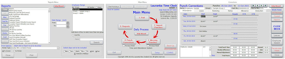 Lauranka Time Clock Software