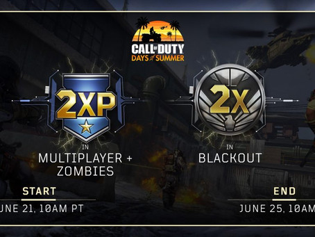 """Double XP """"Weekend"""" June 21st - 25th on Black Ops 4"""