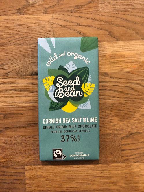 ORGANIC CORNISH SEA SALT DARK CHOCOLATE
