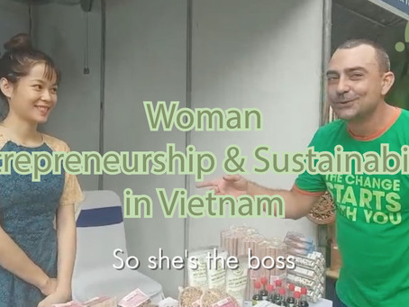 Woman Entrepreneurship and Sustainability in Vietnam - Strawlific at the 2020 Women's Union Event