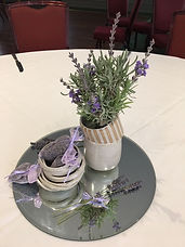 Fresh lavender with dried lavender bags.
