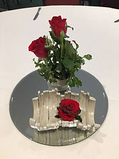 Fresh roses with single freeze dried ros