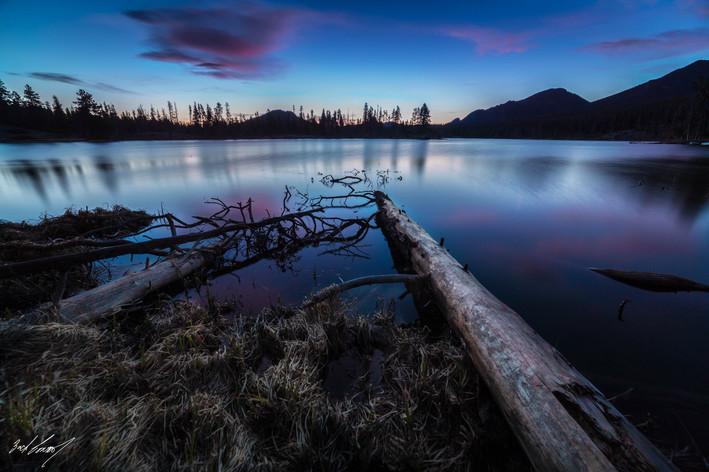 Rocky Mountain Lake Sunrise