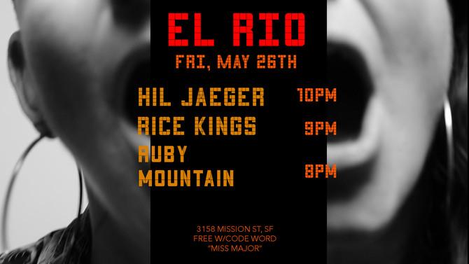 Headlining the El Rio, SF