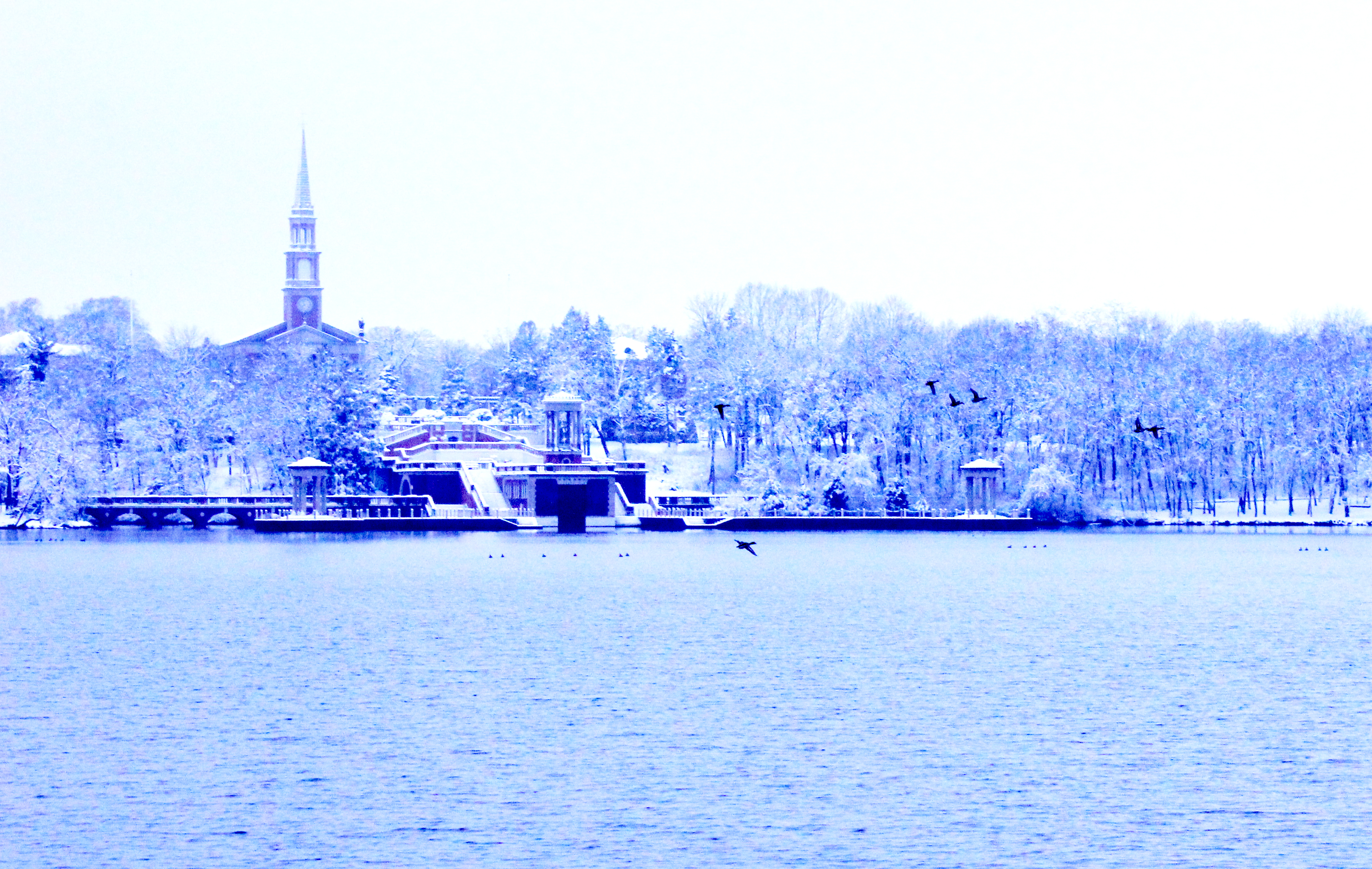 View of the Seminary in the Winter