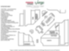 Verge vendor map with booth numbers and