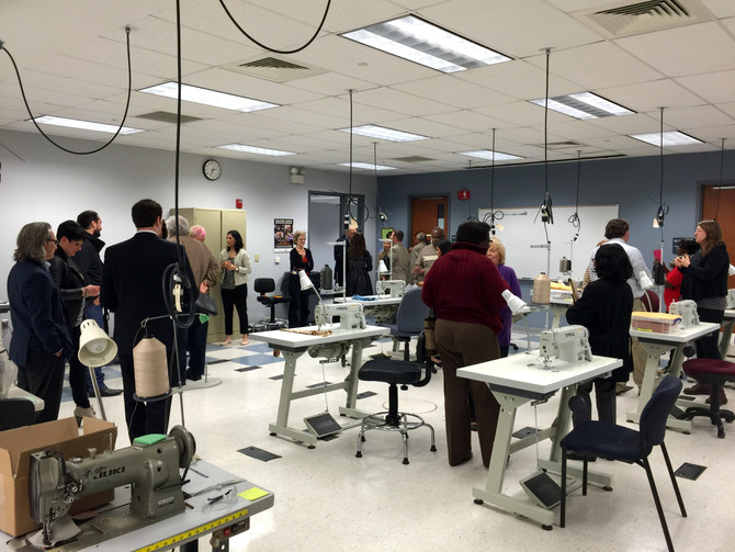 On The Town: Ribbon Cutting Ceremony for the Industrial Sewing Certificate Program